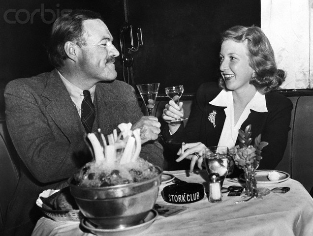 Ernest Hemingway and Martha Gelhorn Make a Toast